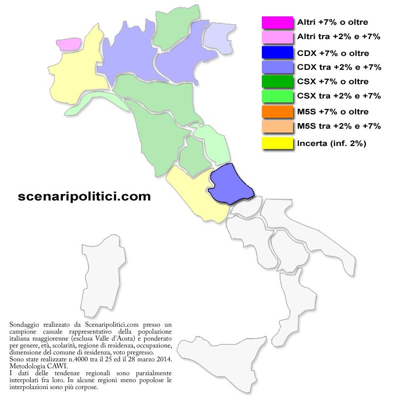 Sondaggio Abruzzo 31 marzo