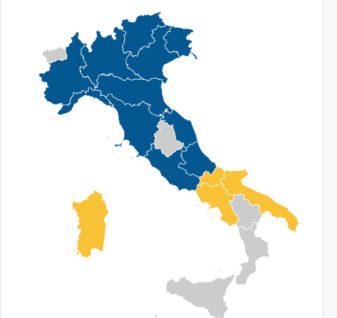 Lunedì 05 03 – ore 00.51. Così si presenta la cartina dell Italia sul sito  Repubblica.it 2ad58995bdb